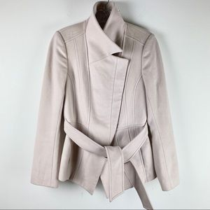 Reiss Womens Sz S Wool & Cashmere Belted Coat